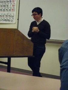 Dean Spade lectures at UNCA.