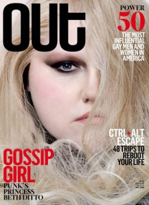Beth Ditto graces the cover of Out. Photo from AfterEllen.com