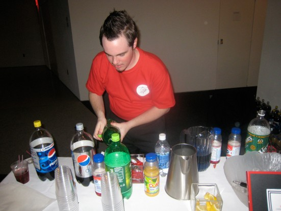 Cody Globig from Queer Cincinnati serves up mocktails.