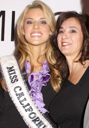 Miss California Carrie Prejean with mother Francine Coppola. Photo from Star.com.