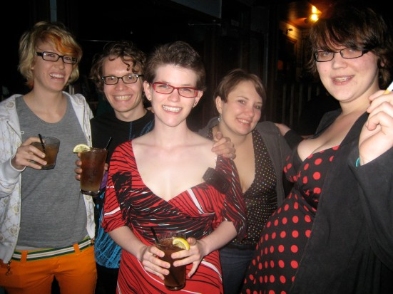 Cincinnati Guerrilla Queer Bar eventgoers enjoy the evening at the Pavilion.