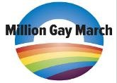 Million Gay March emblem. Photo from Million Gay March Facebook fan page.