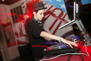 Samantha Ronson spin in the Nati. Photo from MetroMix.com.