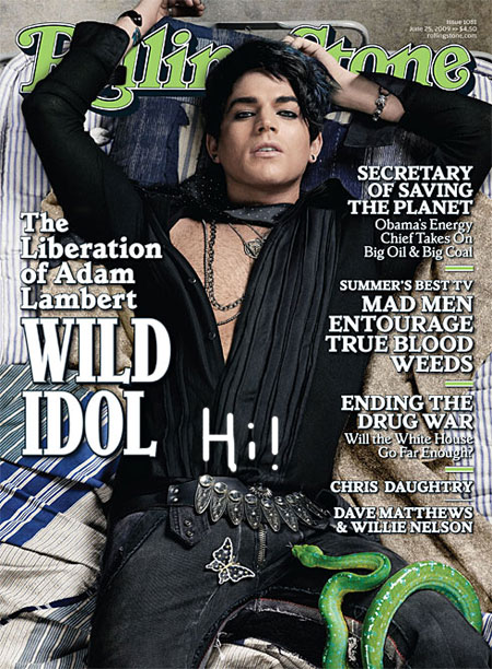 Adam Lambert on the cover of Rolling Stone.
