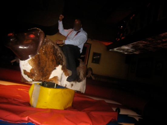 Yee-haw. Cowboy wannabes can try their luck on the mechanical bull at Cadillac Ranch.