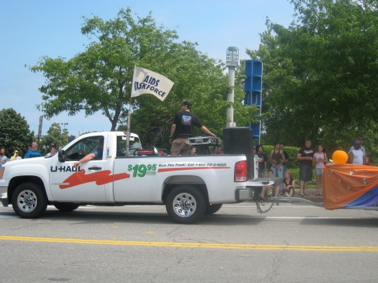 This parade had two U-Hauls. How appropriate for a Pride parade.