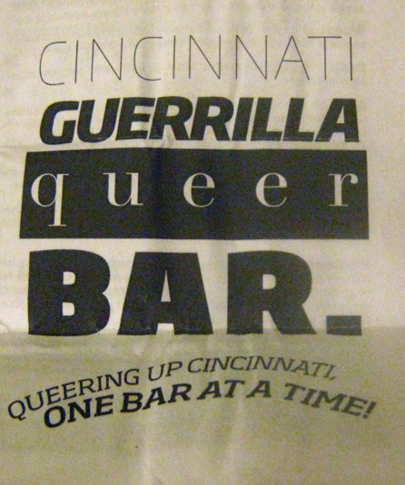 CGQB organizers printed up pamphlets to hand out to curious straight people about the event. Inside it contained facts about LGBT inequality and even a fun word search with definitions of words like queer, gender and heterosexism.