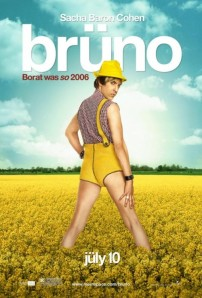 The <em>Bruno</em> movie poster. Photo from Google Images.