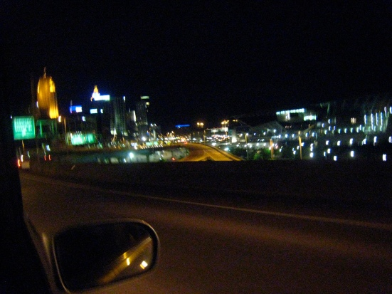 The view of Cincinnati is breathtaking from the I-71/75 bridge from Kentucky.