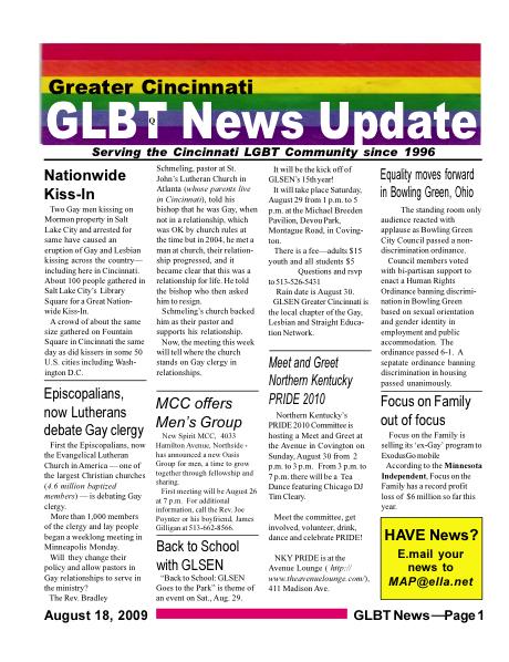 GLBT News August