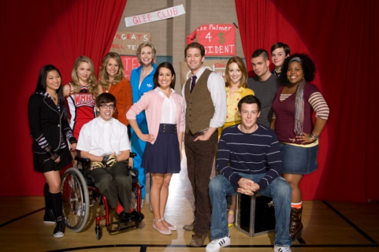 Cast of FOX's Glee. Photo from Google Images.