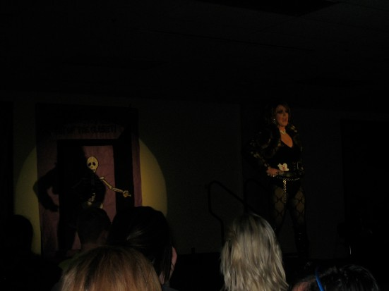 Kamron Vaughn of Le Bitchz emceed the first half of semiannual NKU drag show.