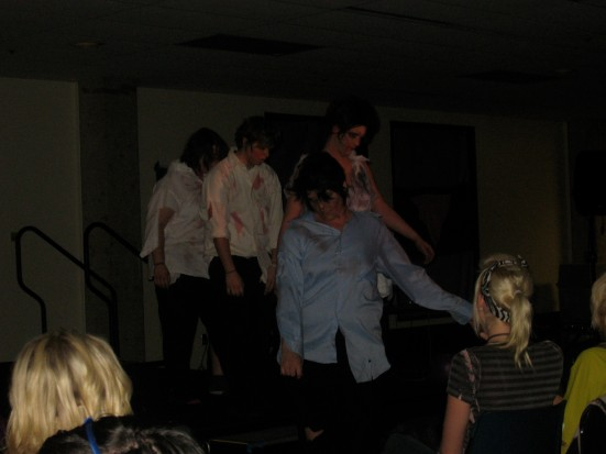 "Le Bitchz closed NKU's drag show with a rendition of ""Thriller,"" complete with zombies."