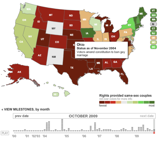 Interactive map that explains gay marriage in every state. Photo from Latimes.com.