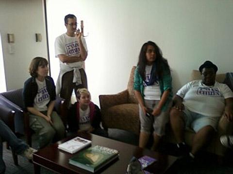 Protestors refuse to leave Sen. Durbin's Chicago office. | Towleroad.com