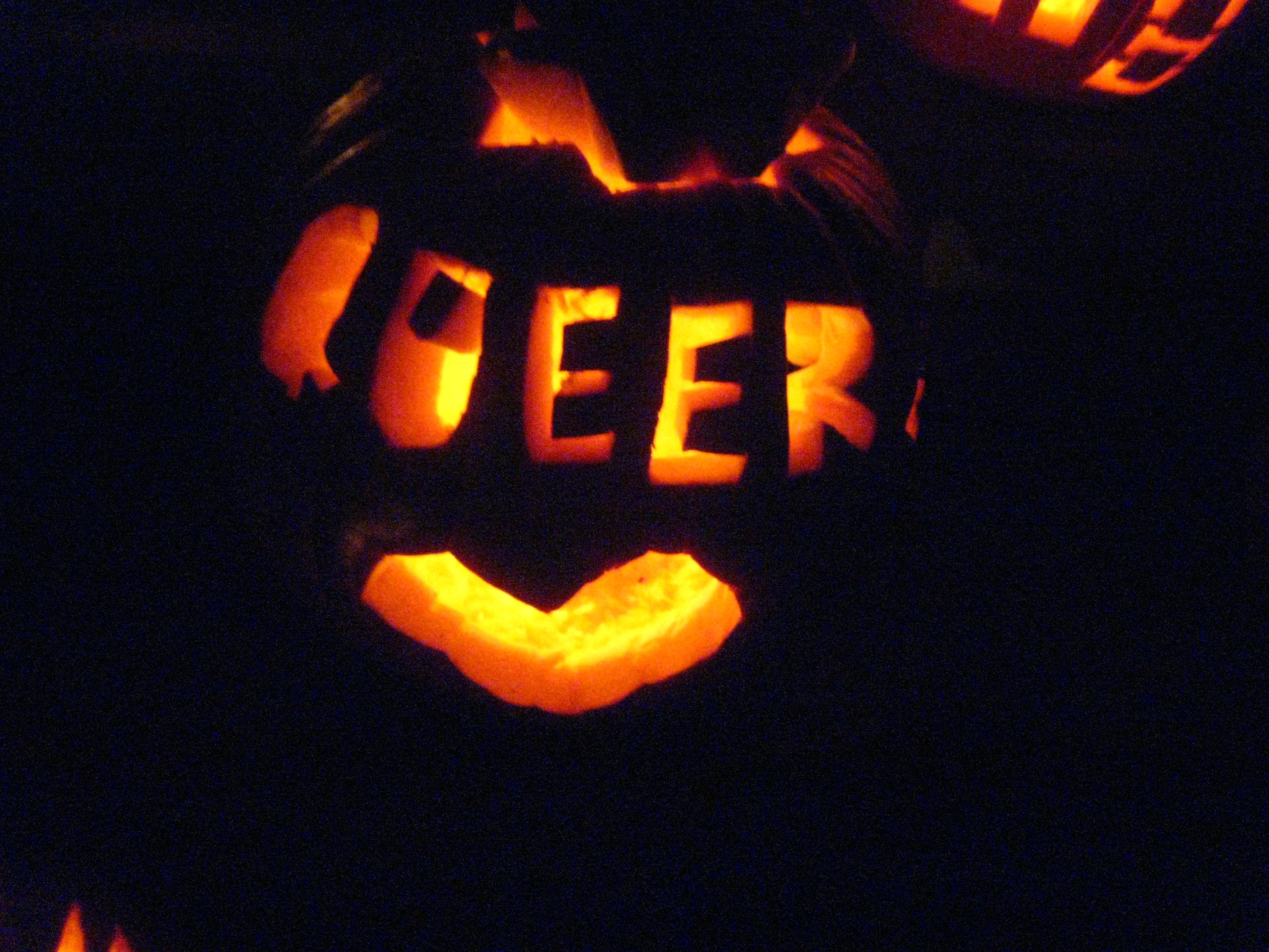 Gay pumpkin carving