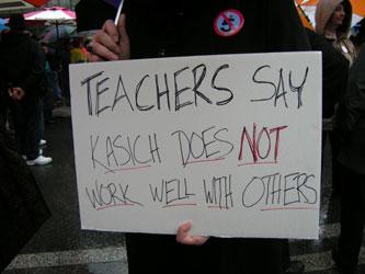 Cincinnati protests SB 5, Kasich releases Ohio budget | Stuff ...