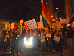 Occupy Chicago supports march down Jackson Boulevard.