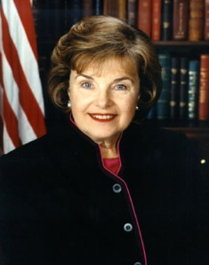 Photo: Head shot of Sen. Dianne Feinstein, a Democrat from California. A white women with brown hair wearing a dark suit jacket. Photo source: Google Images