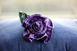 Photo: A flower made out of a bandana to flag the hanky code. Photo source:  Kinky Craft on Etsy, Google Images