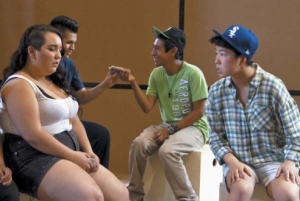 "Photo: Queer youth perform in ""What's The T?"" Image source: Time Out Chicago, Google Images"
