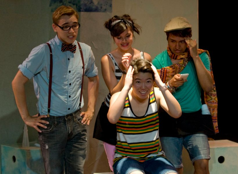 "Photo: Queer youth performing in ""What's The T?"" Image source: The Qu, Google Images"