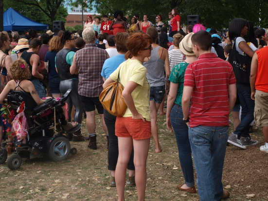 Photo: Chicago Trans Pride TGIF The crowd at Trans Pride watching Queer Choir perform on stage. Google Images.