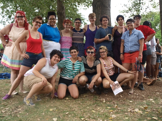 Photo: Chicago Trans Pride TGIF Queer Choir poses after the performance at Transgender Pride. Google Images