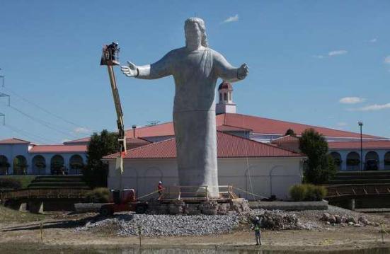 Photo: Touchdown Jesus rises again. Photo source: Cincinnati Enquirer, Google Images