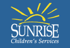 Photo: Sunrise Children's Services logo. Image source: Google Images, Sunrise.org